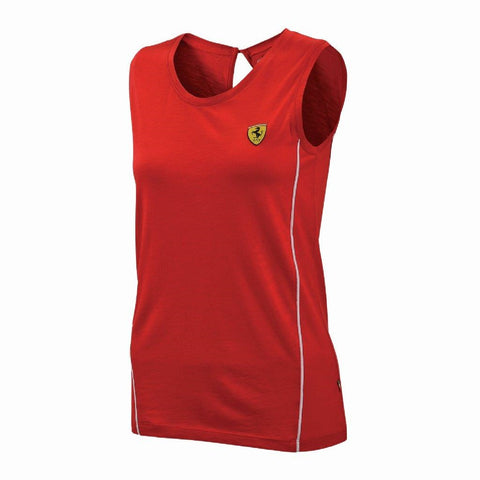 VEST Top Womens Ferrari Formula One 1 Ladies Sporty Activewear Track NEW Red