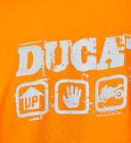 T-SHIRT Adult MotoGP Bike Ducati Billboard Motorcycle Superbikes NEW Orange