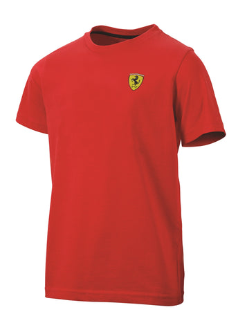T-SHIRT Mens Ferrari Classic Cotton Crew Neck Tee F1 Formula One 1 NEW! Red