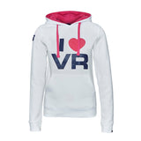 SWEATSHIRT ladies Hoody Bike MotoGP I Love Valentino Rossi NEW! Hoodie White