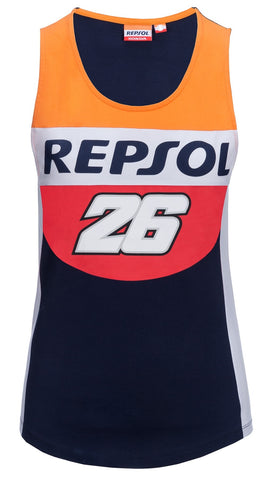 Top Womens Repsol Honda Team Ladies Pedrosa 26 MotoGP Bike Tee NEW!