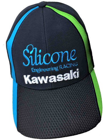 CAP Hat KAWASAKI Silicone Engineering Racing Team Bike Motorcycle Superbike BSB NEW!