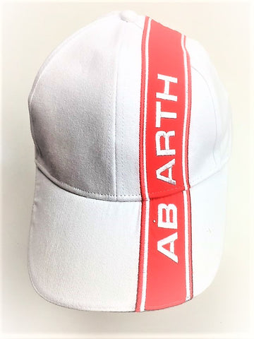 CAP Abarth Rally Fiat White with Red Stripe Logo