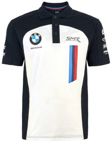 POLO BMW Motorrad World Superbike Team Bike WSBK Poloshirt NEW! White & Navy