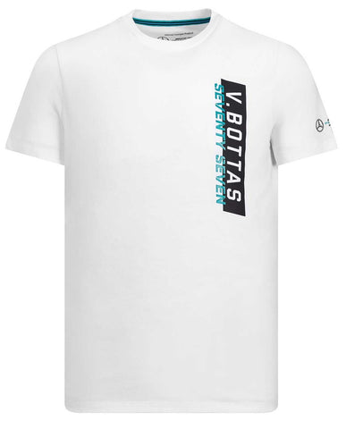 T-SHIRT Valtteri Bottas Formula One 1 Mercedes AMG Petronas F1 Tee White NEW!