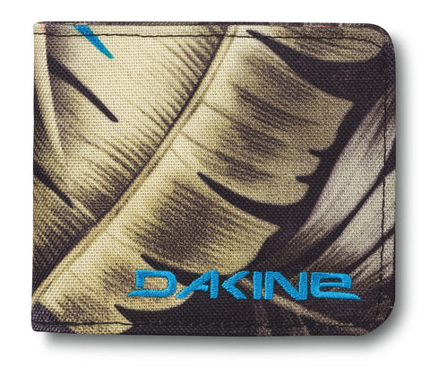 WALLET Dakine Palm Purse Zipped Coins Notes Cards Identity NEW! Fabric Green