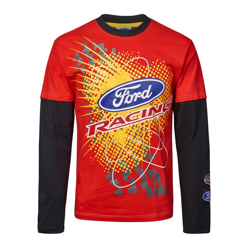 T-Shirt Adult Rally Cross Longsleeve OMSE Ford Fiesta Extreme NEW Red Black