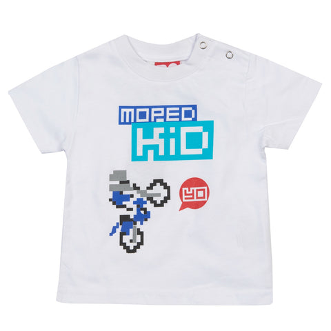 T-SHIRT Tee Baby Do-Design Moped Kid Bike Scooter Toddler White NEW!
