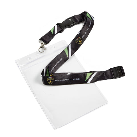 LANYARD Passholder Lamborghini Racing Team KeyClip Neck Strap Pass Le Mans NEW