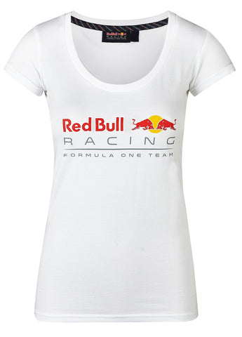 T-SHIRT Ladies Top Red Bull Racing Formula One 1 Team Womens NEW! Logo White