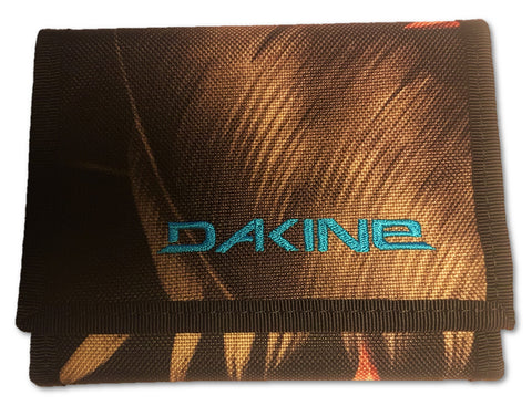WALLET Dakine Palm Purse Ripper Coins Notes Cards Identity NEW! Green & Black