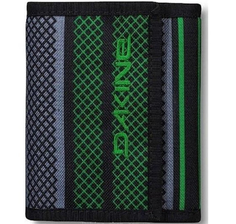 WALLET Dakine Diplomat Verde Purse Ripper Coins Notes Cards Identity NEW!