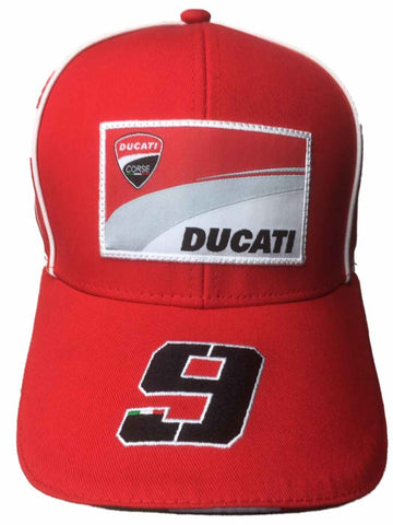 Cap Ducati Corse Petrucci Bike Gear Motorcycle MotoGP No 9 Superbike NEW! Red