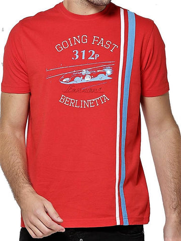 T-SHIRT Ferrari Berlinetta Vintage GT Racing 1969 312p New Red