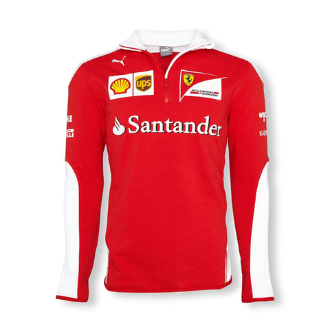 SWEATSHIRT Fleece Scuderia Ferrari Mens Sponsor Formula One F1 Red White New!