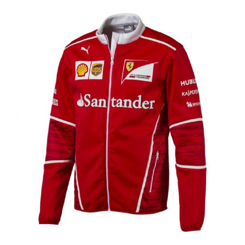 JACKET Soft Shell Mens Coat Fleece Scuderia Ferrari Formula One F1 2017 New!