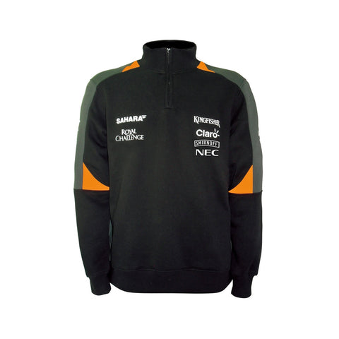 SWEATSHIRT Zip Formula One 1 Sahara Force India Team Sponsor F1 NEW!