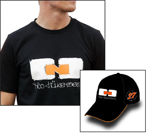 T-SHIRT & CAP Formula One 1 Sahara Force India Nico Hulkenberg F1 NEW Black