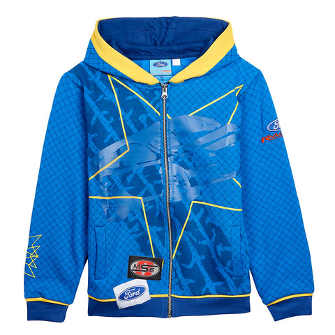 Sweatshirt Zip Hoodie Adult Rally Cross OMSE Ford Fiesta Extreme NEW! Blue