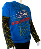 T-Shirt Rally Cross OMSE Ford Fiesta Blue Black