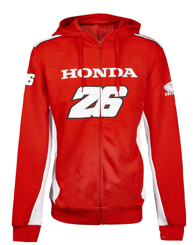 Sweatshirt Mens Dual Honda Team Pedrosa 26 MotoGP Bike Hoody Hoodie NEW!