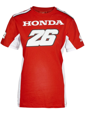T-Shirt Womens Dual Honda Team Ladies Pedrosa 26 MotoGP Bike Tee NEW!