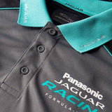 POLO Shirt Jaguar Racing Formula E Panasonic Team Poloshirt Grey Cyan NEW!