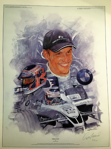 POSTER Print Button Formula One 1 NEW! BMW Williams Ltd Edition Artist Signed