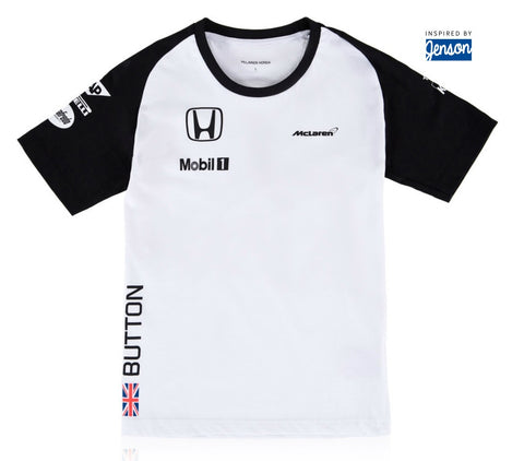 T-SHIRT Childrens Formula One 1 Team McLaren Honda Button F1 NEW 2015 kids
