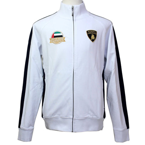 SWEATSHIRT Full Zip Automobili Lamborghini Sportscar Le Mans UAE White NEW!