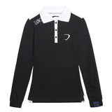 Poloshirt Lancia Delta ladies Longsleeve Polo Rally NEW! Embroidered Black