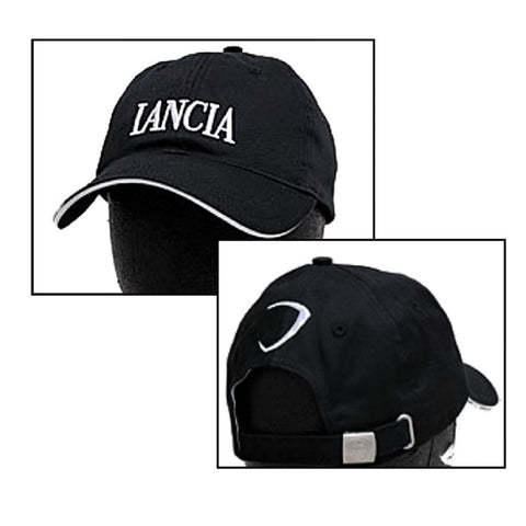 CAP Baseball Hat Lancia Delta WRC Rally Embroidered Logo Cotton New! Black