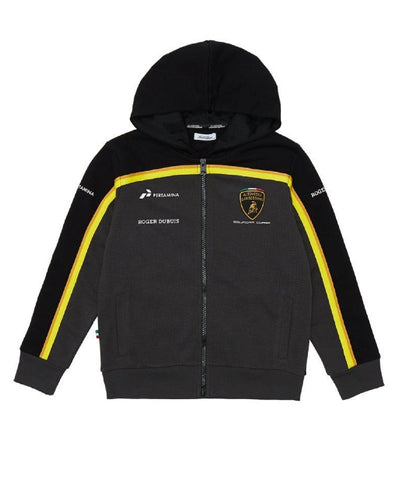 SWEATSHIRT Childrens Automobili Lamborghini Hoodie Kids Black NEW!