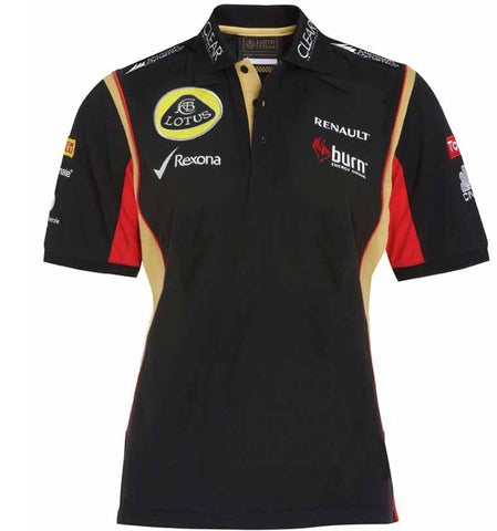 POLO SHIRT ladies 3 Button Formula One 1 Lotus F1 Team Sponsor Burn NEW!