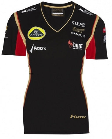 T-Shirt Ladies Lotus F1 Burn Raikkonen Black 2013