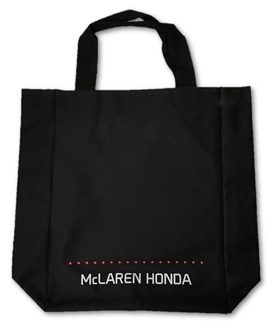 "BAG Tote Shopping Carrier Formula One 1 Team McLaren Honda F1 NEW! Black 16""x13"""