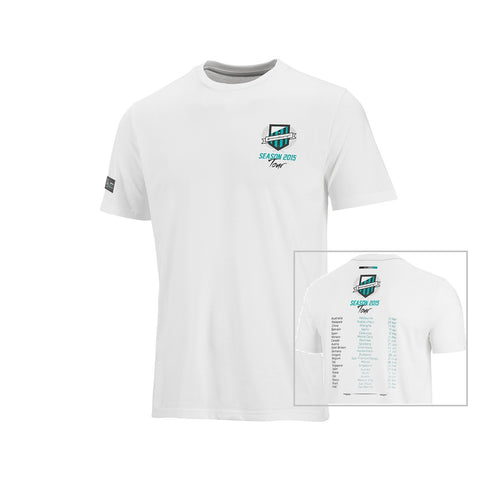 T-SHIRT Mercedes AMG Petronas F1 Team Formula One 1 Tour Tee NEW! White
