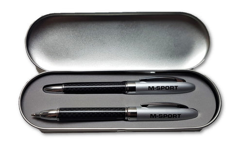 PENS X2 Ford M-SPORT Pen Set Ballpoint and Cartridge Fountain Rally NEW! Gift