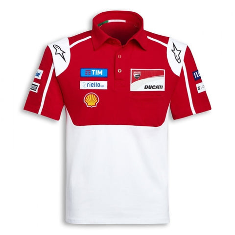 POLOSHIRT Bike MotoGP Ducati Alpinestars Sponsor Polo Motorcycle NEW! Red