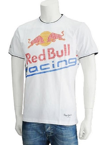 T-SHIRT Red Bull Racing Formula One 1 F1 Pepe Jeans Fashion Tee NEW! White