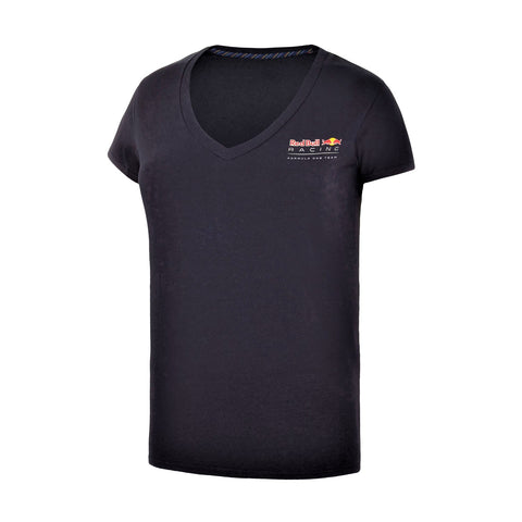 T-SHIRT Ladies Top Red Bull Racing Formula One 1 Team Womens NEW V-Neck Navy