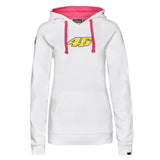 SWEATSHIRT ladies Hoody Bike MotoGP No.46 Valentino Rossi NEW Hoodie White