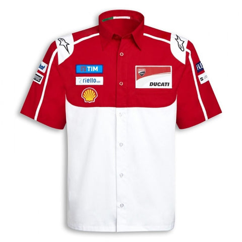 SHIRT Bike Mens MotoGP Ducati Alpinestars Sponsor Raceshirt NEW! Red