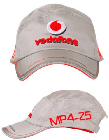CAP Formula One 1 F1 Vodafone McLaren Mercedes Team 2010 NEW! MP4-25 Silver