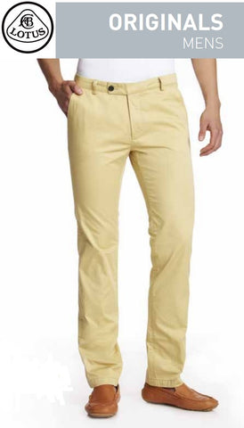 Trousers LBM37 Chino Mens Cotton Lotus Beige