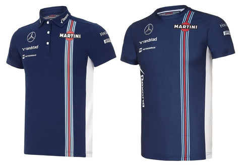 POLO & T-SHIRT Ladies Williams Martini F1 Formula One 1 NEW! Mercedes Navy