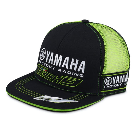CAP Flat Peak Yamaha Factory Racing Green Mesh Bike MotoGP Superbike Tech3 NEW!