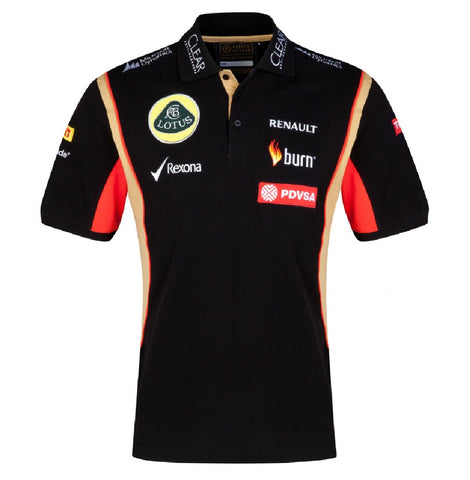 POLO Shirt Adult Formula One 1 Lotus F1 Team NEW! PDVSA Sponsor 2014/5