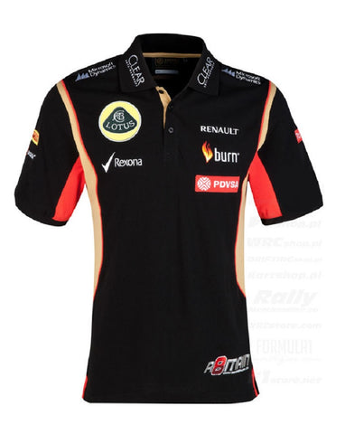 POLO SHIRT Mens Formula One 1 Lotus F1 Team NEW! PDVSA Grosjean 2014/5