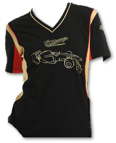 T-SHIRT Tee ladies Formula One 1 Lotus F1 Team NEW! Iceman Raikkonen Black